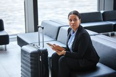 Broker in lounge stock images