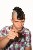 Young aggressive punk. Stock Photography