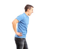 Young agrresive man shouting Stock Image