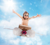 Young airman royalty free stock photography