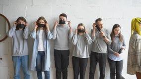Alarmists wear protective mask from coronavirus