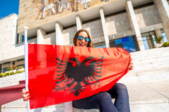 Young Albanian patriot Royalty Free Stock Image