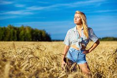 Young american cowgirl woman portrait Royalty Free Stock Photos