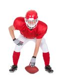 Young american football player Stock Photography