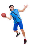 Young american football player Stock Photos