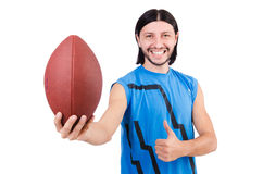 Young american football player Royalty Free Stock Image
