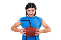 Young american football player Stock Image