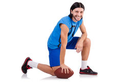 Young american football player Royalty Free Stock Photography
