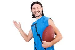 Young american football player Royalty Free Stock Photos