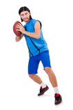 Young american football player Royalty Free Stock Images