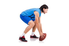Young american football player Royalty Free Stock Photo