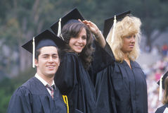 Young American graduates  at  graduation UCLA, Royalty Free Stock Images