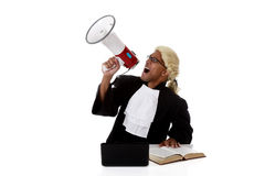 Young American judge man, screaming Royalty Free Stock Images