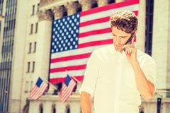Young American Man traveling in New York Royalty Free Stock Images