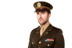 Young american soldier in uniform Royalty Free Stock Image