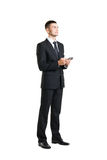 Young And Confident Business Man With A Telephone Stock Photography