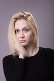 Young androgynous girl fashion model looking at camera Royalty Free Stock Photo