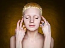 Young androgynous girl Royalty Free Stock Photos