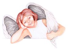 Young angel royalty free illustration