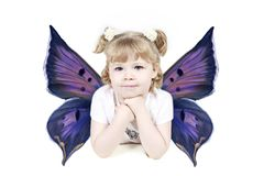 Young angel girl Royalty Free Stock Photos