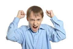 Young angry boy Stock Image
