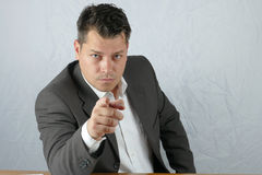 Young angry business man Stock Photography