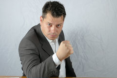 Young angry business man Royalty Free Stock Image