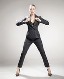 Young angry businesswoman Royalty Free Stock Images