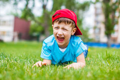 Young angry kid shouting Royalty Free Stock Photos