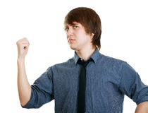 Angry male pointing Royalty Free Stock Photography