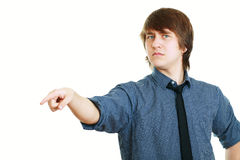 Angry male pointing Royalty Free Stock Photo
