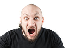 Young angry man is screaming Stock Images