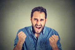 Young angry man screaming Royalty Free Stock Image