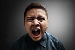 Young angry man Royalty Free Stock Photography