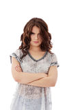 Young angry woman with crossed arms Stock Photo