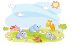 Young animals in the summer Royalty Free Stock Photography