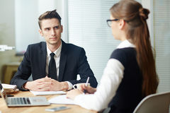Applicant at interview Stock Photos