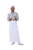 Young apprentice butcher Royalty Free Stock Image