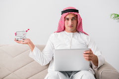 The young arab businessman in business concept Royalty Free Stock Photo