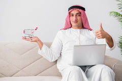 The young arab businessman in business concept Stock Photo