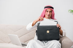 The young arab businessman in business concept Royalty Free Stock Photography