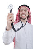Young arab doctor with stethoscope Stock Image