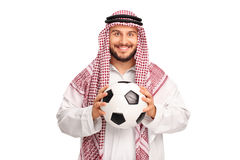 Young Arab holding a football Stock Photos