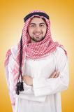 Young arab isolated on the white background Royalty Free Stock Photos