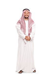 Young Arab in a white robe and a red veil Royalty Free Stock Photo