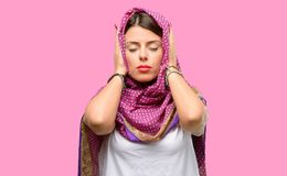 Young arab woman stock image