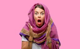 Young arab woman royalty free stock photo