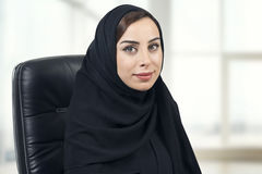 Young Arabian businesswoman in office Stock Images