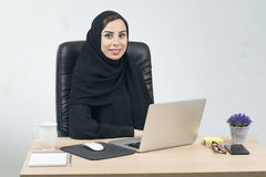 Young Arabian Businesswoman Working In The Office Stock Photo