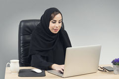 Young Arabian Businesswoman Working In The Office Royalty Free Stock Photography